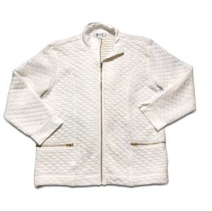 💖 White & Gold Quilted Coldwater Creek Jacket!